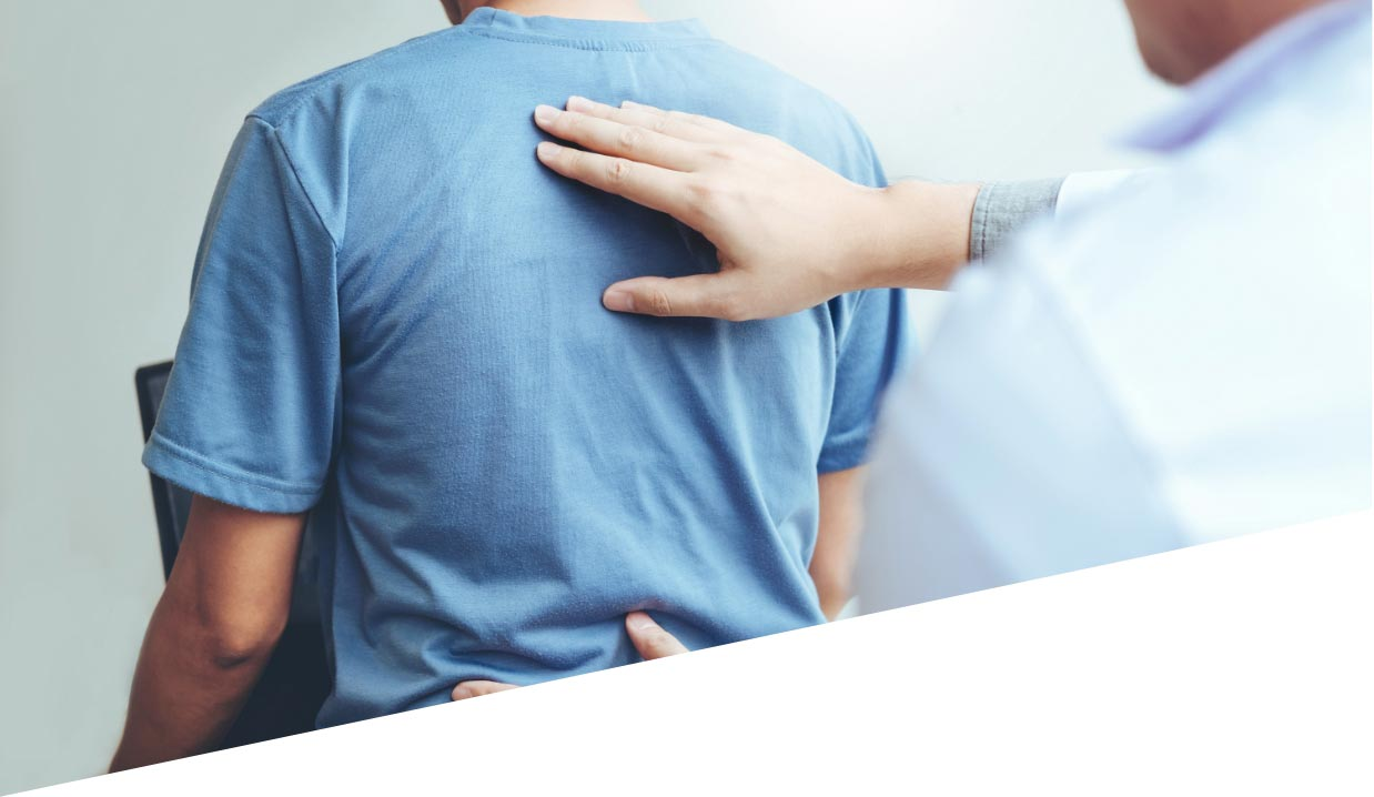 Person receiving chiropractic care